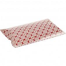 Krabička Elipsa 12x9,5x2,4 cm Biela / Červená