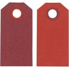 Etikety na darčeky Červená