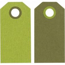 Etikety na darčeky Zelená
