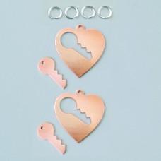 Prívesok Srdce s kľúčom