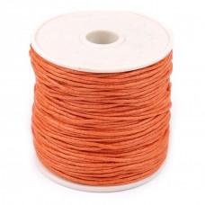 Bavlnená voskovaná šnúrka Oranžová