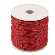 Bavlnená voskovaná šnúrka Červená Aurora