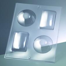Odlievacia forma Obdĺžnik a kruh 3D