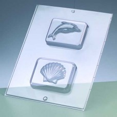 Odlievacia forma na mydlá Mušla a delfín.