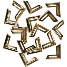 Kovové ukončovacie rohy Zlatá