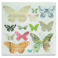 Servítka Motýle novinový papier