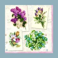 Servítka Poézia kvetov