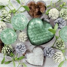 Servítka Zelená zima