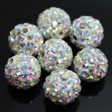Shamballa koralky Priesvitné perleťové