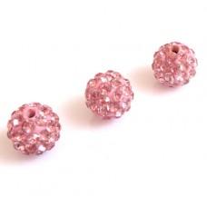 Shamballa koralky Ružová / Rosaline