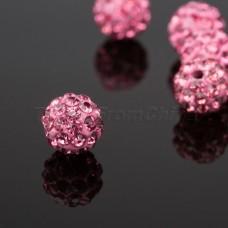 Shamballa koralky Ružová sýta / Pink rose