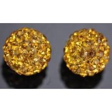 Shamballa koralky Žltá / Topaz