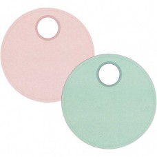 Etikety kruhové 9 cm Tyrkysová / Ružová