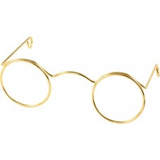 Miniatúrne okuliare Zlaté 6 cm