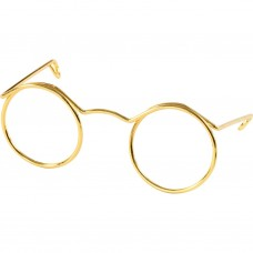 Miniatúrne okuliare Zlaté 5 cm