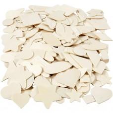 Drevená mozaika Zmes tvarov