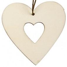 Drevené ozdoby Srdce