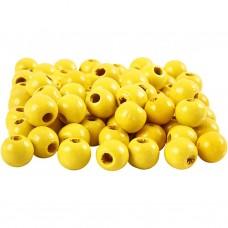Drevené korálky Žltá 6 mm