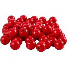 Drevené korálky Červená 8 mm