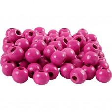 Drevené korálky Ružová 6 mm