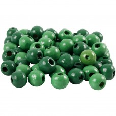 Drevené korálky Zelená 8 mm
