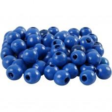 Drevené korálky Modrá 8 mm