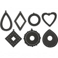 Drevené ornamenty na vyšívanie čierna