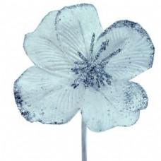 Umelý kvet Hybiscus Strieborná