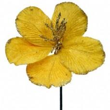 Umelý kvet Hybiscus Zlatá