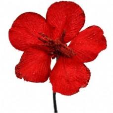 Umelý kvet Hybiscus Červená