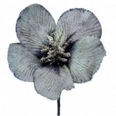 Umelý kvet Hybiscus Sivá