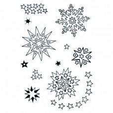 Silikónová pečiatka Snehové vločky