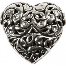 Kovový prívesok Srdce - antik