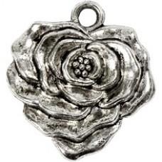 Kovový prívesok Ruža- antik