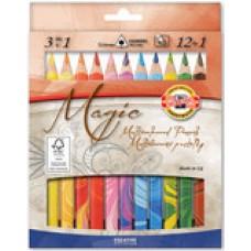 Pastelky MAGIC 12 farieb + 1 zmiešavač