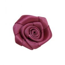Saténový kvet Staroružová 15 mm