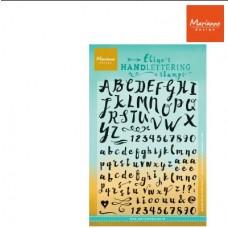 Silikónová pečiatka Marianne Design Písmo Handlettering