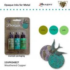Vintaj patina kit weathered copper / Sada na patinovanie kovov