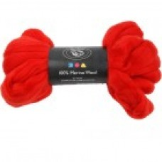 Vlna na plstenie Merino Christmas red / Červená jasná