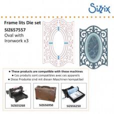 Sizzix Framelits vyrezávacia šablóna Rámik oválny
