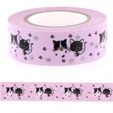 Lepiaca páska Washi Mačky