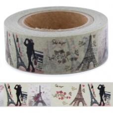 Lepiaca páska Washi Vintage Paris