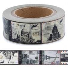 Lepiaca páska Washi Vintage Monumenty