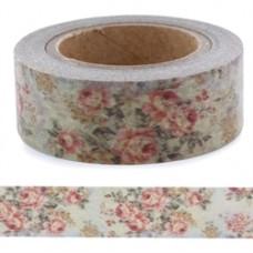 Lepiaca páska Washi Vintage Kvety