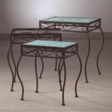 Sada 3 stolov na dekoráciu mozaikou 2