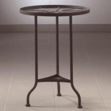 Kovový stôl s 2 platňami Kruh