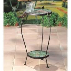 Kovový stôl s 2 platňami Kruhy