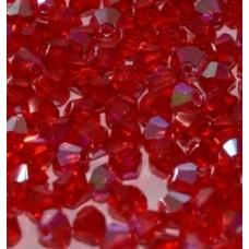 Korálky Bicone Červená 4 mm