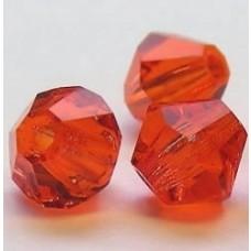 Korálky Bicone Oranžová