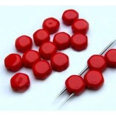 Korálky Hexagon Červená